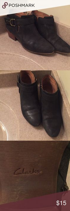 Clark's Women's Booties Worn three to four times. Smoke free home. Clark's. Clarks Shoes Heeled Boots