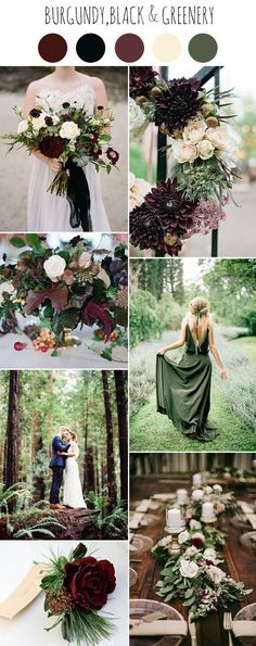 romantic and moody fall woodland wedding colors #WeddingIdeasRomantic