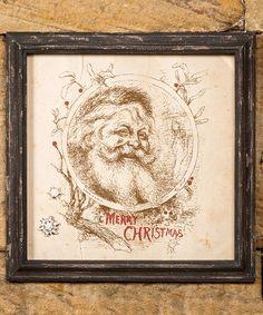Look at this #zulilyfind! 'Merry Christmas' Santa Claus Magnetic Cardholder #zulilyfinds