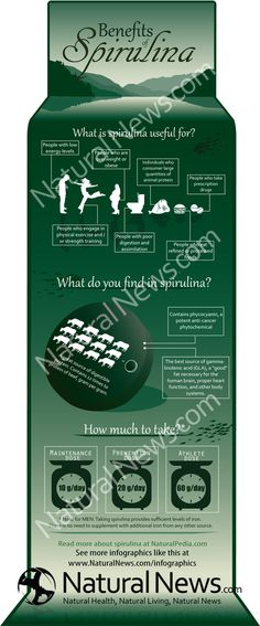 InfoGraphic - Benefits of Spirulina - NaturalNews.com