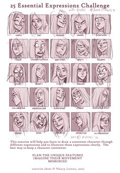 expression sheet - Anne Marie by Fukari.deviantart.com on @DeviantArt