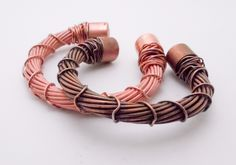 "Multiple strands of 14 gauge copper wire has been twisted, soldered and hand formed into this unisex bracelet. Bracelet is approximately 7 1/4"" and will fit a 7 1/2"" - 8 1/2"" wrist. It is slightly adjustable and may be customized upon request. Bracelet may be finished with a shiny or antique finish."