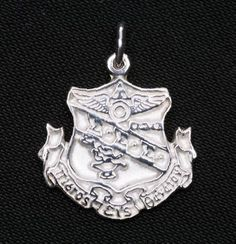 Tri Sigma large silver crest available in Good Things From Louisiana, an ebay store.