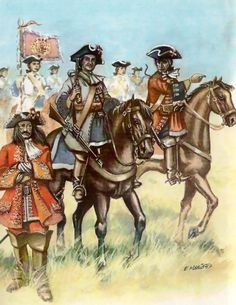 Spanish cavalry at the Battle of Almansa, War of the Spanish Succession