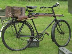 irish military | irish army bsa irish army issue bsa bicycle gun at a vintage military ...