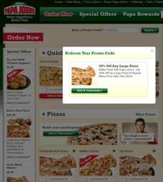 Pinned June 25th: Any large pizza 50% off at Papa Johns via promo code SPEC50 coupon via The Coupons App