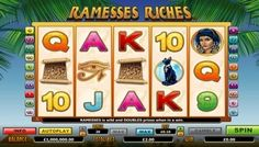 Play #RamessesRiches video slot machine game to discover ancient mysteries and treasures. It is a thrilling slot with five reels, twenty pay-lines and many #bonus features to increase your winning chances.  Ramesses Riches is an# Egyptian themed slot that is powered by world-class casino software, so you will get to enjoy stylish graphics, #realistic sound effects and smooth animation on every spin.