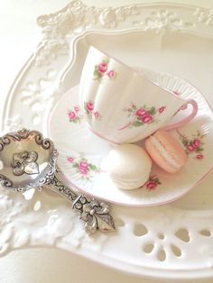 My Tea Party for Rose.and Shelley ; Style Vintage, Vintage Tea, Tea Cup Saucer, Tea Cups, All I Ever Wanted, Rose Cottage, Tea Accessories, High Tea, Rose Buds