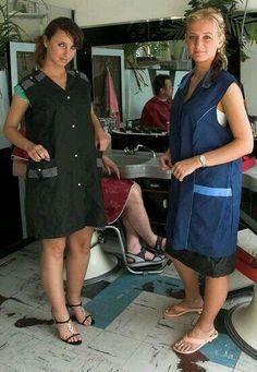 Kultsalon - Fitish Shirt - ideas of Fitish Shirt - Kultsalon Nylons, Beauty Uniforms, Shaved Hair Women, Blouse Nylon, Girls Uniforms, Beauty Shop, Madame, Slip, Short Hair Styles