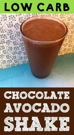 This chocolate avocado shake is a great low carb Keto Paleo dairy-free milkshake option for breakfast or as an after dinner dessert. It's Atkins Banting LCHF THM-S Grain Free Gluten Free and Sugar Free compliant. Low Carb Shakes, Keto Shakes, Atkins Shakes, Avocado Shake, Keto Avocado, Avocado Toast, Avocado Juice, Avocado Salad, Keto Smoothie Recipes