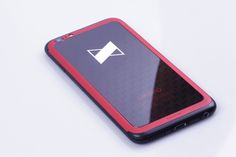 Custom iPhone 6 with precise silk printed pattern and red anodized aluminium frame for MKBHD