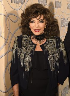 Joan Collins Photos Photos - Actress Joan Collins attends HBO's Official Golden Globe Awards After Party at Circa 55 Restaurant on January 8, 2017 in Beverly Hills, California. - HBO's Official Golden Globe Awards After Party - Red Carpet