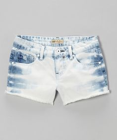 Love this Light Wash Bleached Denim Shorts - Girls on #zulily! #zulilyfinds