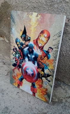 Avengers Marvel Comics Comic Decor Art Print Wall by AuroraAndArt