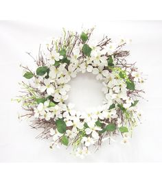 Spring Inspirations- 23 Dogwood Bubble Berry Wreath- Cream at JoAnns Wreaths And Garlands, Holiday Wreaths, Door Wreaths, Holiday Crafts, Christmas Diy, Christmas Decorations, Berry Wreath, Summer Wreath, Spring Wreaths
