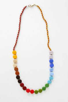 rainbow necklace, vintage german glass beads from 20s/30s- I. Ronni Kappos