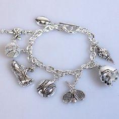 Multisport Mom Fan Athlete Silverton Charm Bracelet Jewelry Baseball Football #TeamMomFanwear