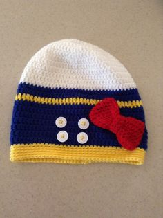 Donald Duck inspired slouch beanie crochet hat. Love how it turned out.