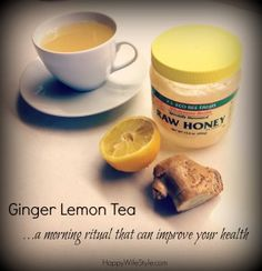 Ginger Lemon Detox Tea…a morning ritual that can improve your health!  HappyWifeStyle.com