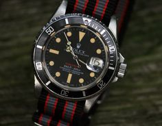 Rolex Red Submariner 1680 w/ Mark V Dial on NATO Circa 1968