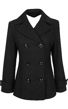 Women's M. Julian Double-Breasted Wool Peacoat $54.00 + free shipping at WilsonsLeather.com (was 180.00)