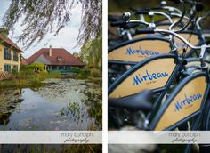 The Monet Ponds looking toward the Inn and our Mirbeau bicycles from Electra Bikes.