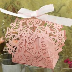 20pcs/set Romantic Wedding favors Decor Butterfly DIY Candy Cookie Gift Boxes Wedding Party -- Continue to the product at the image link.
