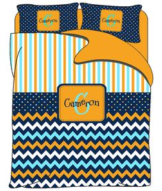 Custom Personalized Stripe & Chevron Bedding Set by redbeauty, $149.00
