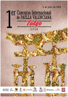 Cartel oficial del 54 Concurs Internacional de Paella Valenciana de Sueca 2014 (semifinal Tokio, Japón)