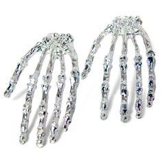 Skeleton Hand Earrings- WANT!