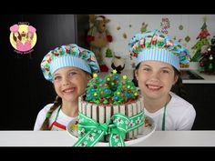 KIT-KAT CHRISTMAS CAKE with m&ms - Cake Decorating Tutorial by Charli's crafty kitchen - YouTube