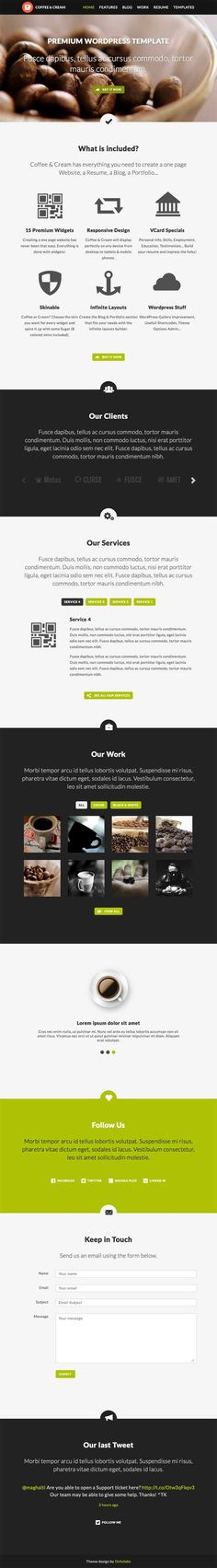 Coffee & Cream | Multipurpose WordPress Theme #wordpress #parallax #flatdesign