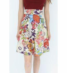 Amelia Print Skirt www.sunheemoon.com