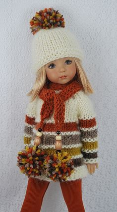 Crochet doll clothes american girl inspiration new Ideas Knitting Dolls Clothes, Baby Doll Clothes, Crochet Doll Clothes, Doll Clothes Patterns, Knitted Doll Patterns, Knitted Dolls, Crochet Dolls, Girl Dolls, Baby Dolls