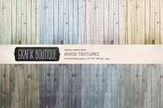 Wood textures digital background by GrafikBoutique on @creativemarket