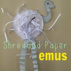 Shredded paper emu (plus other Aussie kids craft ideas and activities for Australia Day).