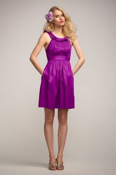Watters 'Fern' Bridesmaid Dress in Bright Purple | Weddington Way