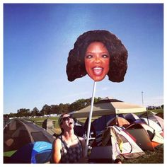 See more awesome festival totems by visiting our full gallery at theberry.com (link in image) #theberry #funnysigns #festivals #oprah