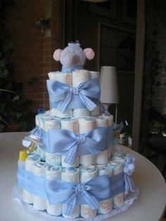 Cute Baby Shower Ideas, Baby Shower Crafts, Baby Crafts, Baby Shower Baskets, Baby Shower Diapers, Baby Boy Shower, Diaper Cake Boy, Diaper Cakes, Juegos Baby Shower Niño