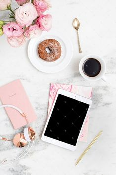 Styled stock photography for bloggers and creative business owners. Blush and marble collection. Only 10 images available!