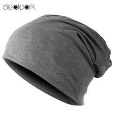 e1eb63f342a Spring Fashion Men Knitted Winter Cap Casual Beanies for Men Solid Color Hip -hop Slouch Skullies Bonnet Unisex Cap Hat Gorro
