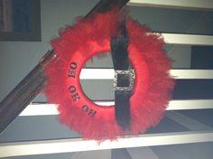 My take on the Santa tulle wreath.