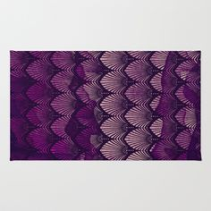 Variations on a Feather II - Purple Haze  Area & Throw Rug by TotalBabyCakes - $28.00