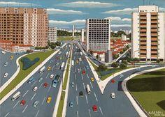 Twenty Third of May Avenue by Agostinho Batista de Freitas, size: 50cmX70cm. Painting matierial: Oil on canvas