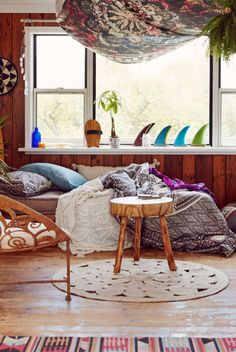 bohemian surf cottage | boho, gypsy, hippie decor | pinterest