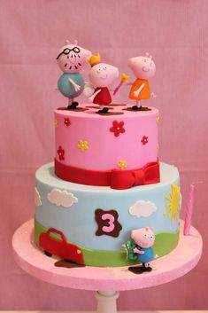 Violeta Glace 's Birthday / Peppa Pig - Photo Gallery at Catch My Party Adult Birthday Cakes, Pig Birthday, Birthday Parties, Birthday Ideas, Peppa Pig Gifts, Pug Cake, Party Pops, Pig Party, Holiday Cakes