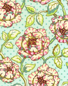 'Freshcut' collection by Heather Bailey for Free Spirit. Textiles, Textile Patterns, Textile Design, Print Patterns, Floral Design, Art Et Illustration, Illustrations, Surface Pattern Design, Pattern Art