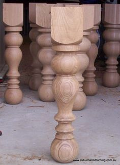 Woodturned legs to custom design