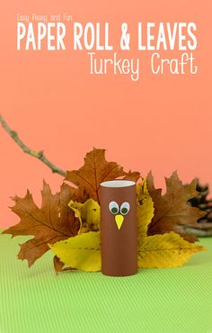 Toilet Paper Roll Turkey Craft - Easy Peasy and Fun