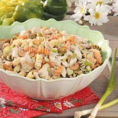 Cashew Turkey Pasta Salad Recipe